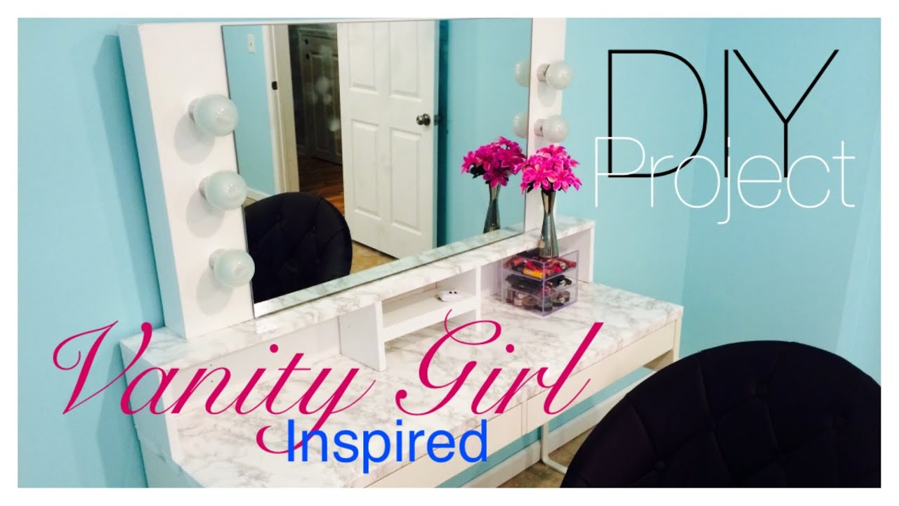 Attractive DIY| Vanity Mirror With Lights Part 1   YouTube