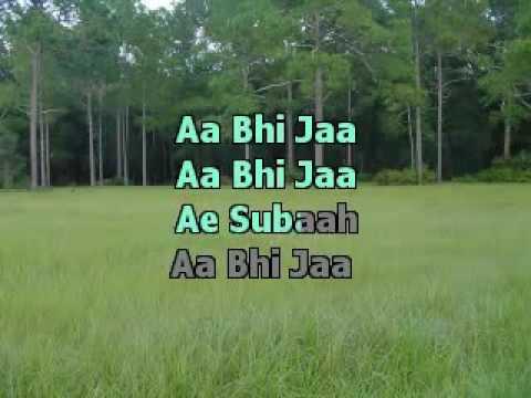 Aa Bhi Ja  Sur  Karaoke With Lyrics   YouTube