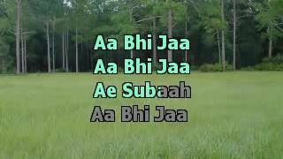 Aa Bhi Ja Sur Karaoke With Lyrics YouTube