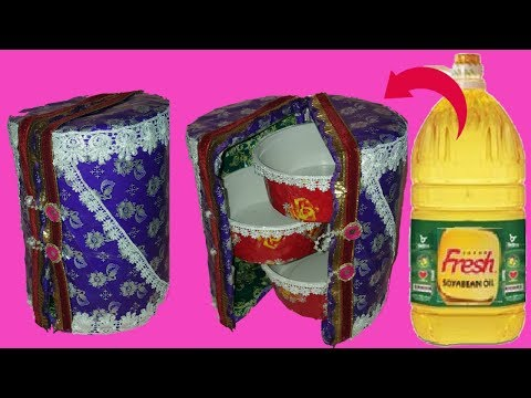 how to make jewelry box with plastic bottles||room decoration idea with palstic bottle||