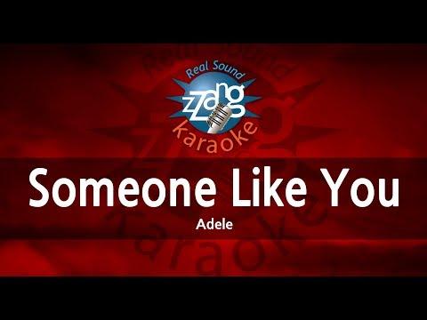 Adele-Someone Like You (Melody) (Karaoke Version) [ZZang KARAOKE]