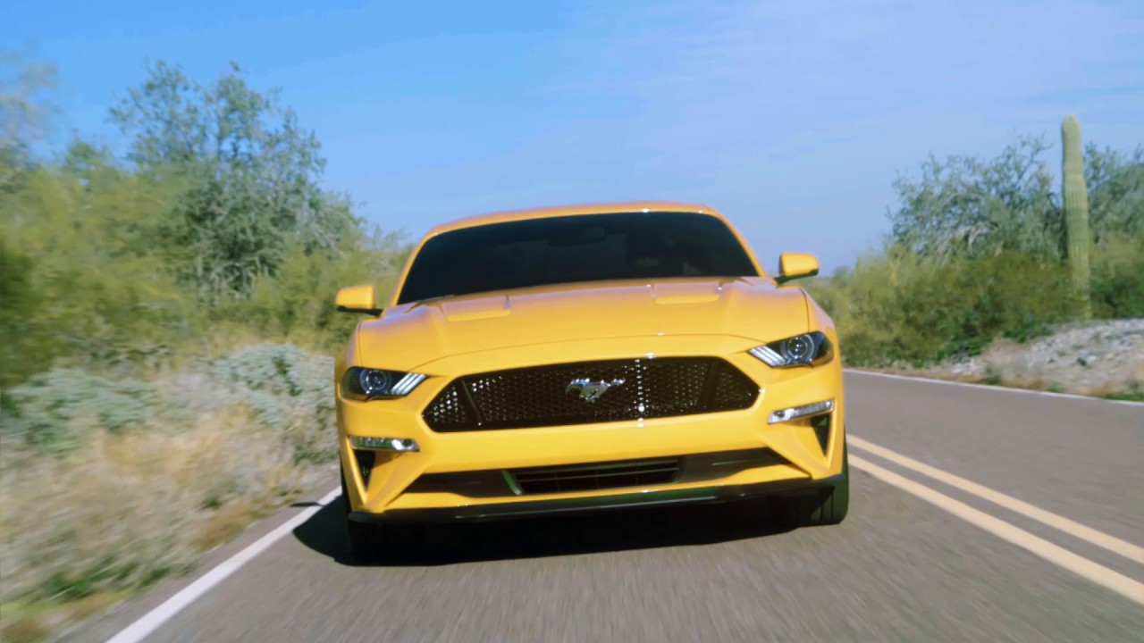 ford mustang  gt  performance pack  orange fury running footage youtube