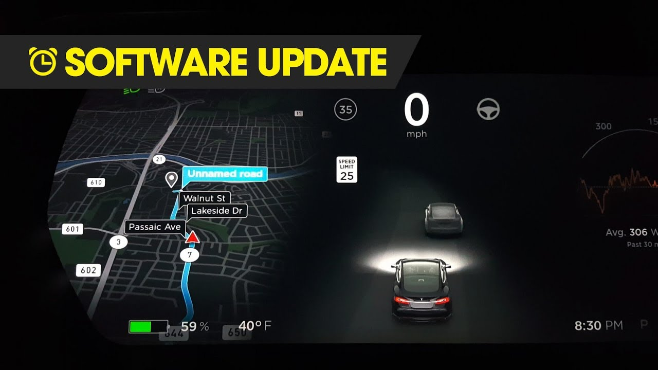 Tesla Software Update - New Tesla Navigation - YouTube