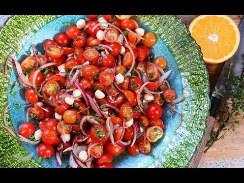 Spectacular Cherry Tomato Salad #MeatFreeMonday | CaribbeanPot.com