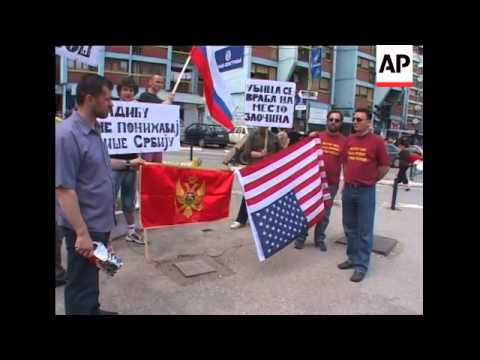 Serb protests against visiting US VP Biden