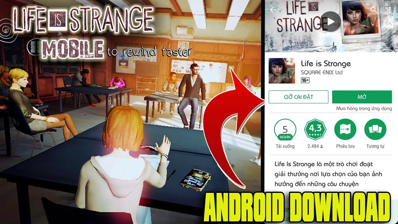 Life is Strange Mobile - Android Release Download (Unreal Engine 4)