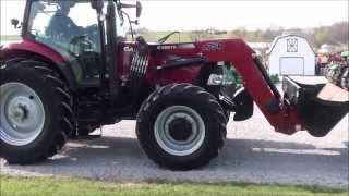 case ih maxxum 125 pro tractor 4x4 with loader for sale by mast tractor