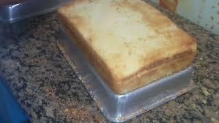 Fazendo massa  de bolo