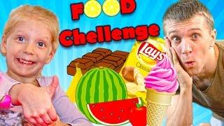 ЧЕЛЛЕНДЖИ С ЕДОЙ все серии подряд БОЛЬШОЙ СБОРНИК от канала Family Box Funny Challenge food