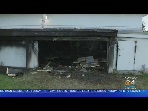 Fire Erupts In Miami Edison Senior High School Equipment Storage Room
