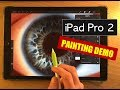 IPAD PRO 2 PAINTING TEST - How to paint an eye procreate tutorial with Apple Pencil