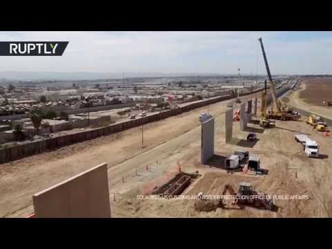 Trump's Wall: Prototypes 'spring up' along Mexican border