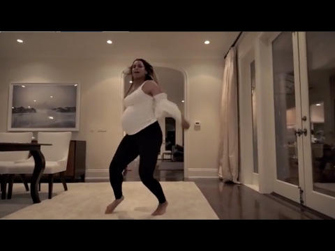 "Very Pregnant Ciara dancing to ""I'm Every Woman"" (by Whitney Houston)"