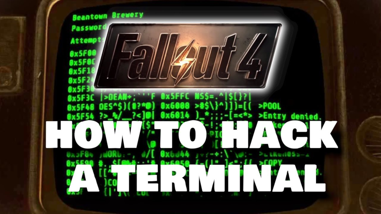 How to hack a computer terminal in fallout 3: 8 steps.