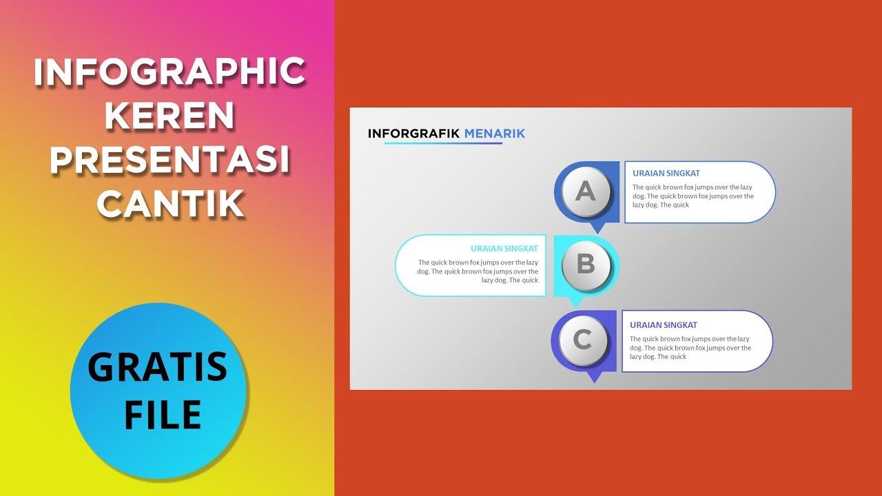 Template Ppt Keren Belajar Membuat Infographic Power Point