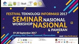Sambutan Mentri Kominfo pada FestivalTIK 2017 di Aceh