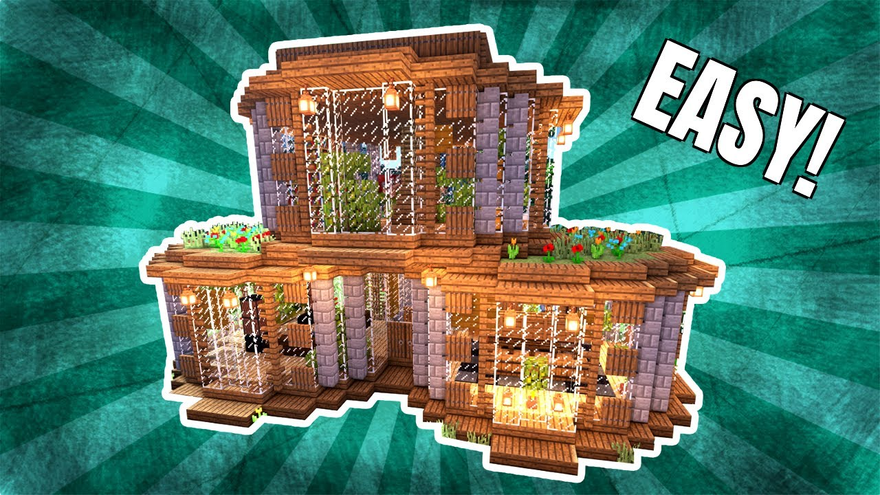 Minecraft  How To Build a Round House  Tutorial