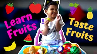 Learn About Fruits From 2 Years Old | Cute Baby Expression on Eating Fruits