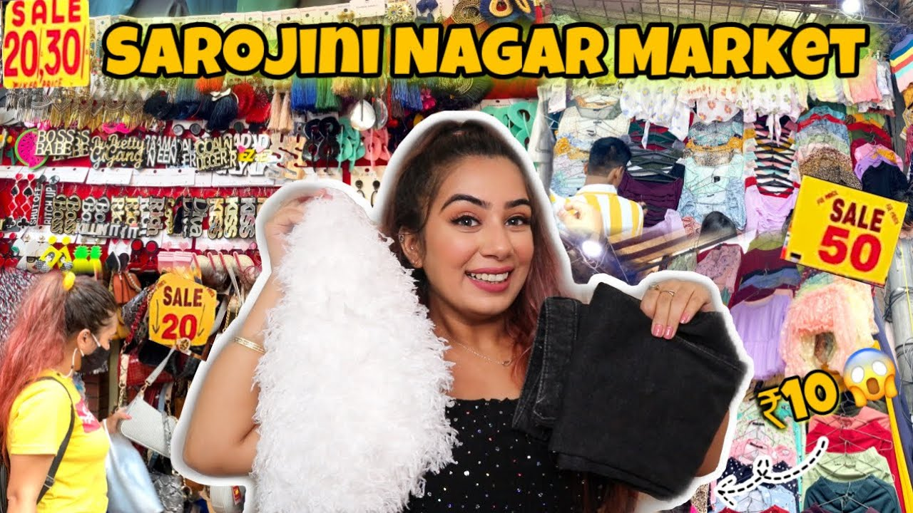 Sarojini Nagar Market | Try on Haul | Latest Collection Bags, Tops Under ₹200 | Dilli ki Ladki