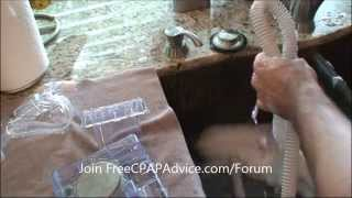Avoid CPAP Respiratory Infections. CPAP mask, humidifier, and tubing cleaning