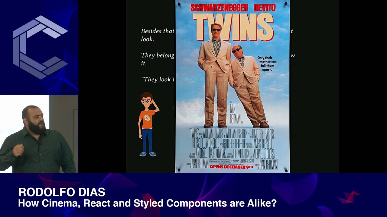 Rodolfo Dias | How Cinema, React and Styled Components are Alike | ComponentsConf 2019