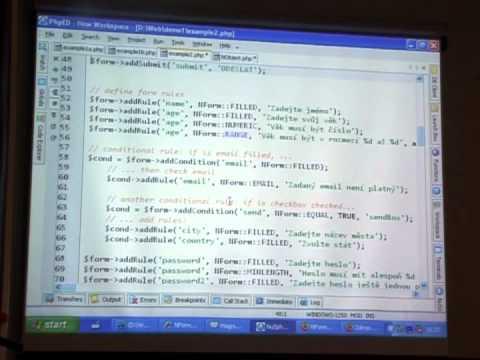David Grudl: Nette Framework poprvé na konferenci PHP frameworky 2007