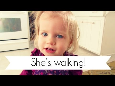 Toddler First Steps | 17 Months Old | Walking Milestone