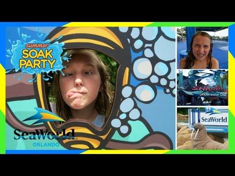 🐬 SEAWORLD SUMMER SOAK PARTY! | SEAWORLD ORLANDO💦