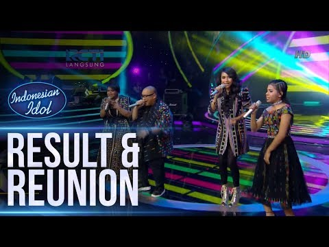 JOAN, MONA, WITHNEY ft. SAYKOJI - KAU (T-Five) - RESULT & REUNION - Indonesian Idol 2018