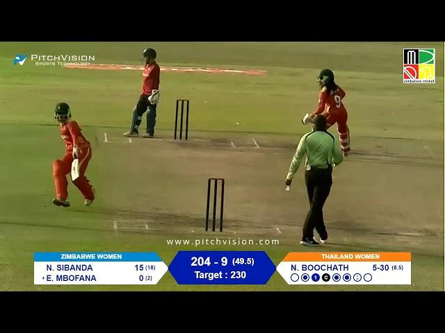 Zimbabwe Women vs Thailand Women | 2nd One Day