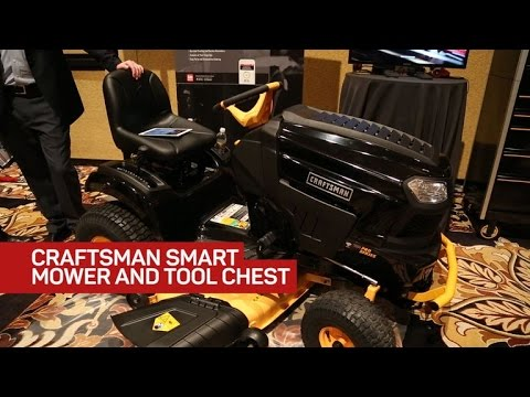 Craftsman came to Vegas on a Bluetooth riding mower