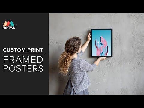 Custom Print Framed Posters: Printful