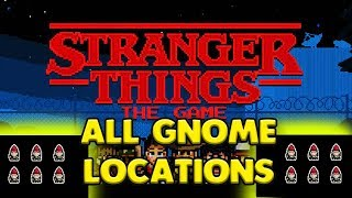 ALL GNOME LOCATIONS - STRANGER THINGS GAME 🤶🤶🤶