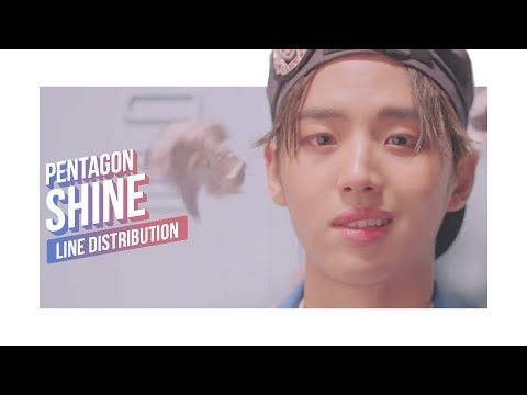PENTAGON - SHINE Line Distribution (Color Coded) | 펜타곤
