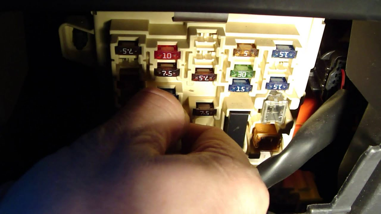 maxresdefault how to fix cigarette lighter fuse toyota corolla youtube Toyota Camry Fuse Box Layout at webbmarketing.co
