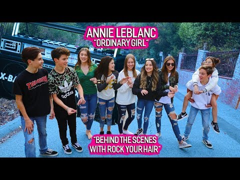 "Thumbnail: Annie LeBlanc ""Ordinary Girl"" Music Video Behind the Scenes with RYH 💖"