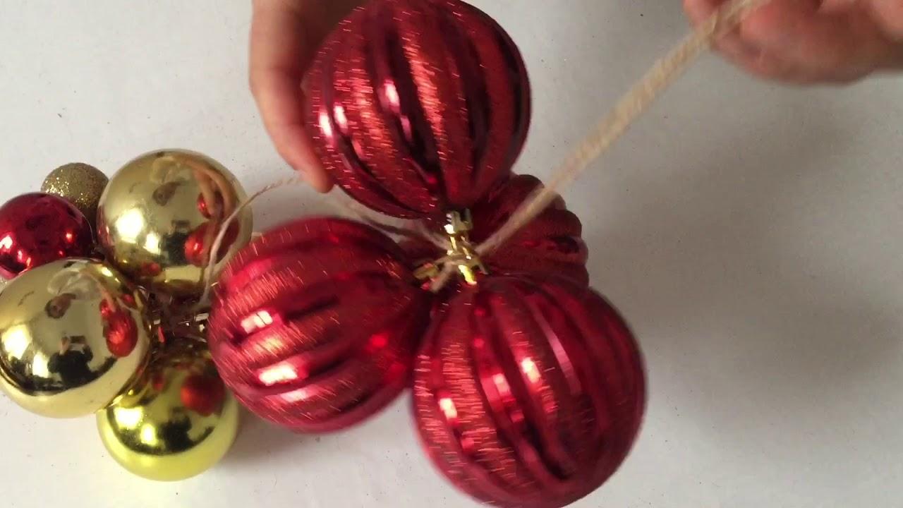 Diy Christmas Grape Decor Youtube