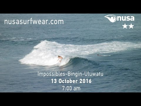 12-10-2016 /✰✰/ NUSA's Daily Surf Video Report from the Bukit, Bali.