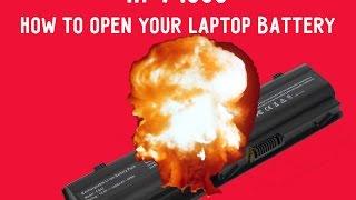 hp mu06   how to open your laptop battery   crash test  як відкрити батарею