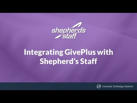 Integrating GivePlus with Shepherd's Staff