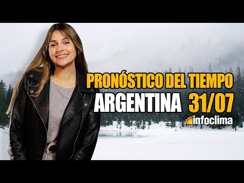 Pronóstico para el 31 de julio de 2021. Argentina - Infoclima TV