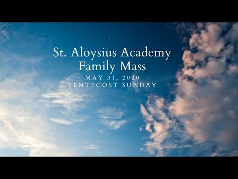 St Aloysius Academy Pentecost Sunday 2020