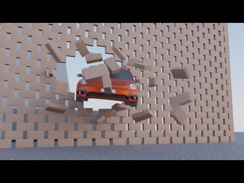 [CGI] Car Crashes through Wall Stunt (Blender Animation)