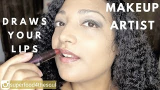 Star Makeup artist draws your lips 💄 ASMR roleplay 💄make up series