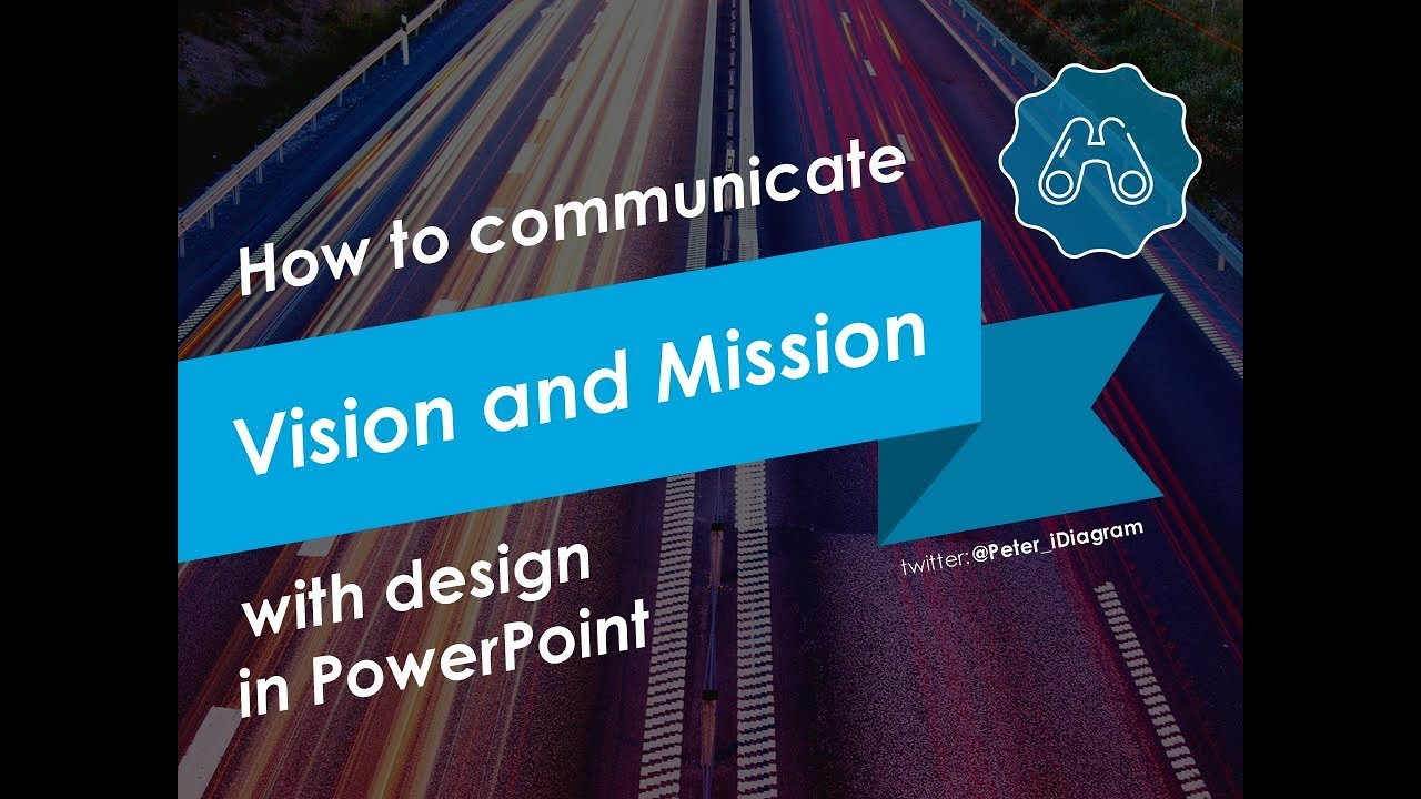 hight resolution of how to communicate vision and mission with design in powerpoint