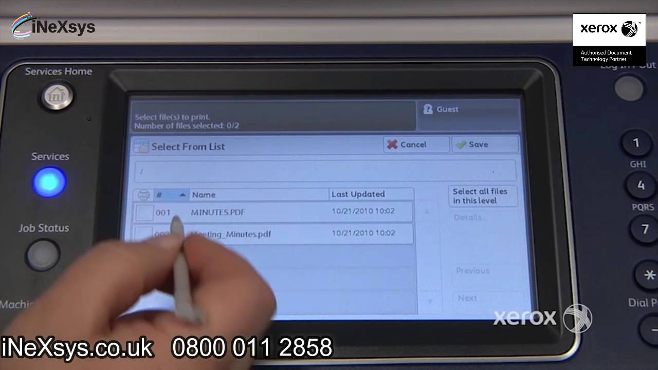 How To Print From Usb Xerox 5300 Series Youtube