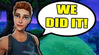 HELPING *LITTLE KID WIN* ON FORTNITE!!! (Fortnite Battle Royale Random Duos Gameplay) thumbnail