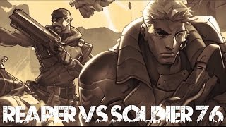 Overwatch Rap Battle: Reaper VS Soldier 76 - Offense Heroes | Daddyphatsnaps