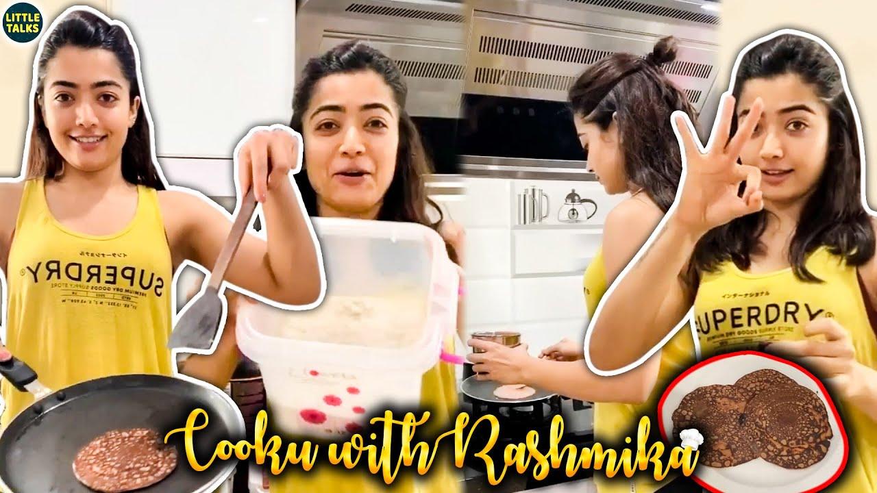 Cooku with Rashmika | Rashmika Mandanna's Pan Cake | Live Cooking Video | LittleTalks