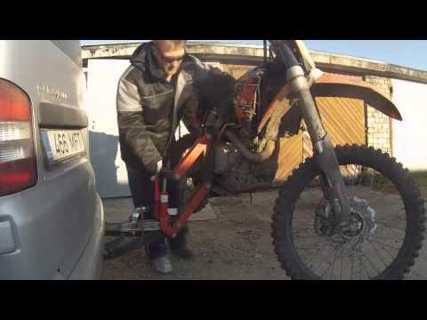 Перевозка мотоцикла на фаркопе